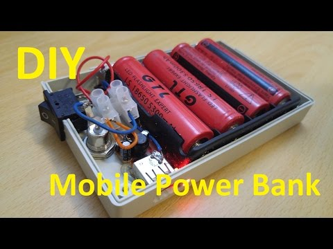 how to make a rechargeable power bank circuit