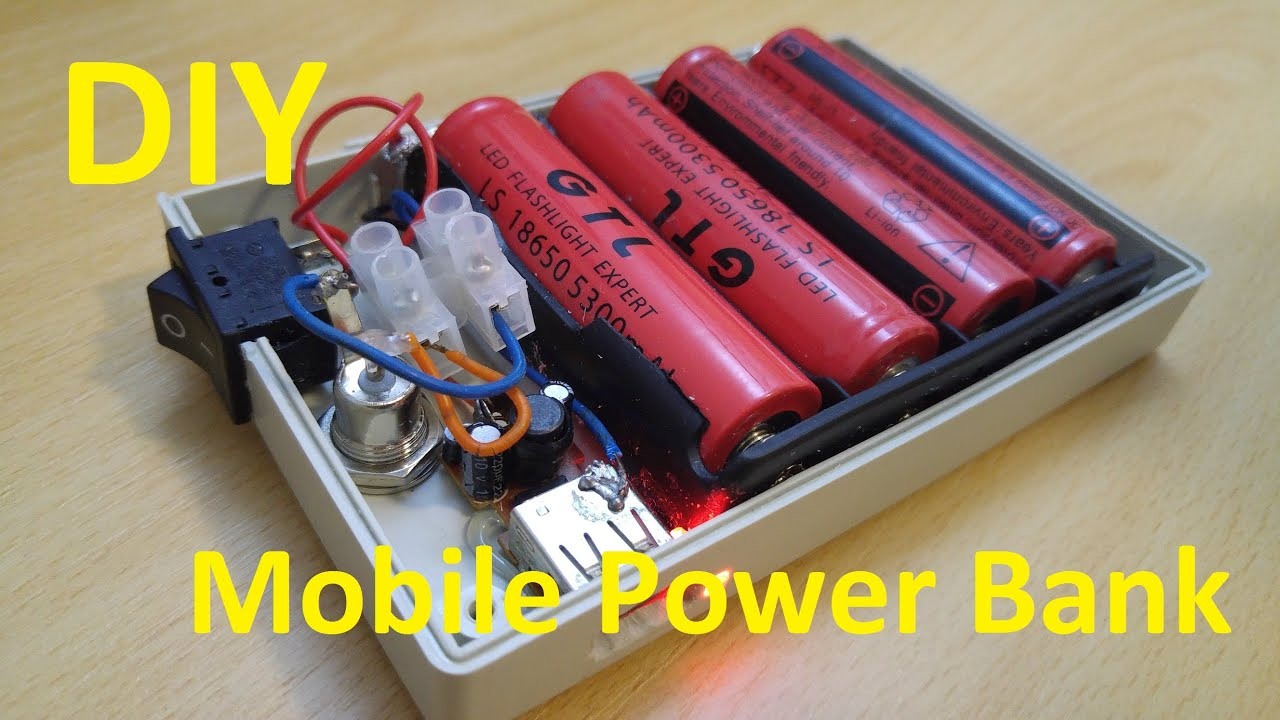 diy external battery charger mobile power bank youtube. Black Bedroom Furniture Sets. Home Design Ideas