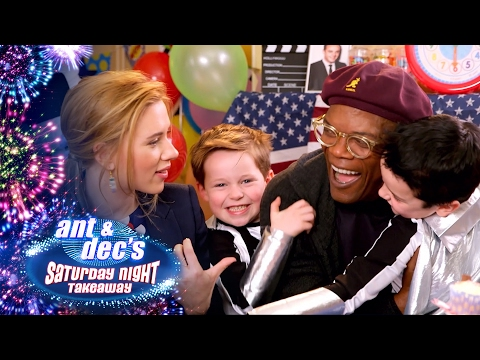 Samuel L. Jackson & Scarlett Johansson's Super Hero Party - Saturday Night Takeaway