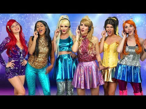 DISNEY PRINCESS POP STARS Ariel Jasmine Aurora Belle Elsa and Anna Totally TV