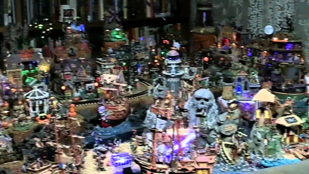Crazy Halloween Village Display - YouTube