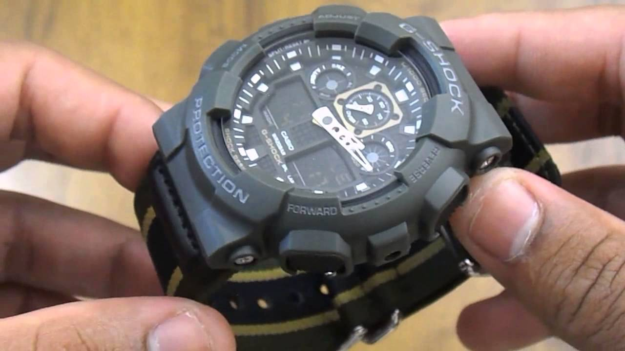 2ac4c07535c Relógio Casio G-shock Ga-100mc-3adr - YouTube