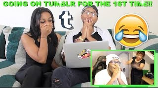 Couple Reacts : GOING ON TUMBLR FOR THE FIRST TIME!!! By ComedyShortsGamer Reaction!!