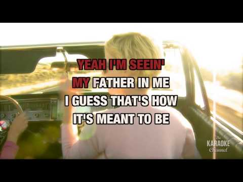 Seein' My Father In Me in the style of Paul Overstreet | Karaoke with Lyrics