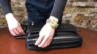 Мужская кожаная сумка Cross Ox Note | Видеообзор