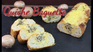 QUICHE BAGUETTE [gefülltes Baguette] Partysnacks selber machen [Fingerfood Ideen für