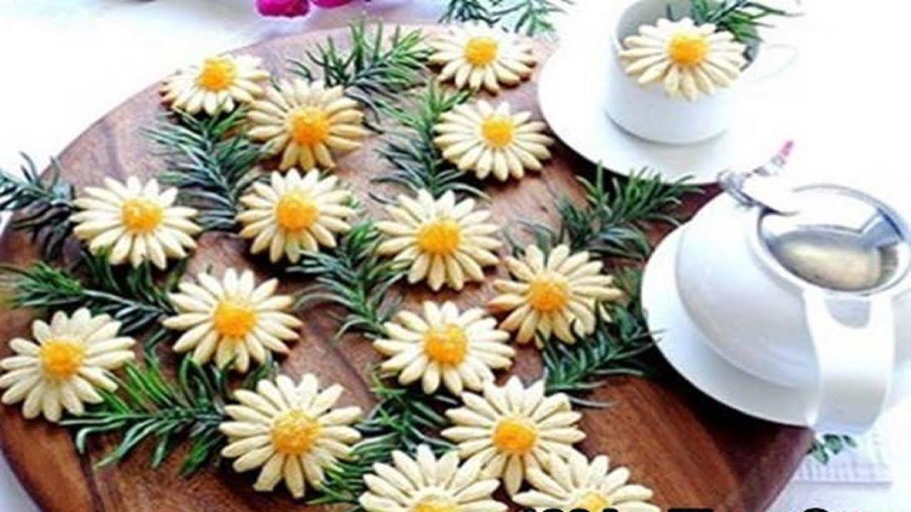 Cách làm bánh quy bơ hình bông hoa cúc đơn giản mà rất đẹp mắt