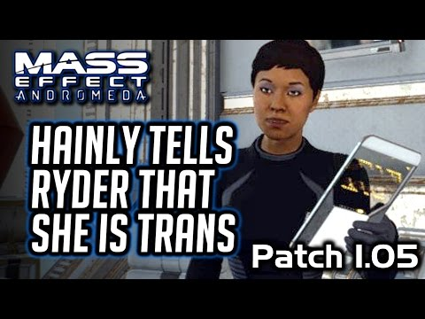 Mass Effect Andromeda: Hainly's TransSexuality Revealed + Invitation To Her Wedding In Patch 1.05