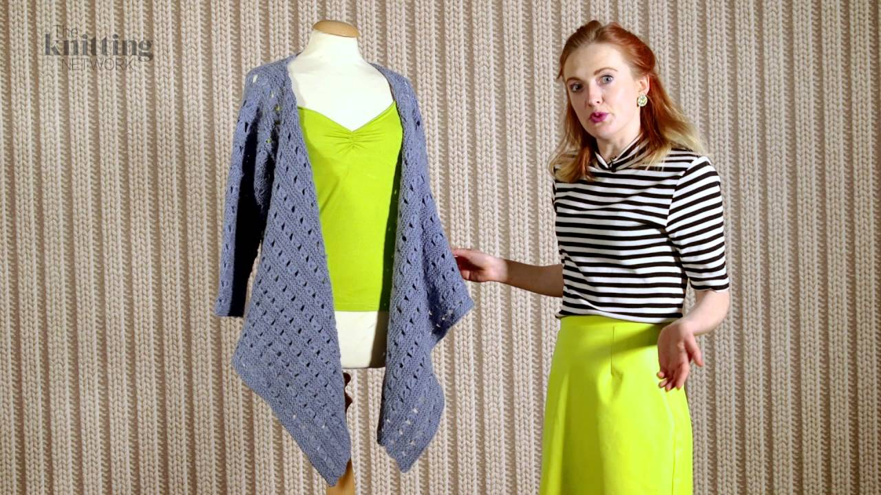 Ladies Cardigan With Draped Front Knitting Pattern (The Knitting ...