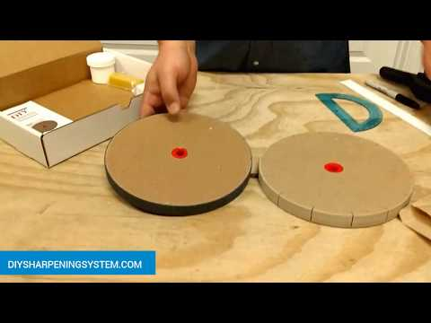 DIY Paper Wheel Knife and Tool Sharpening System How to Sharpen knives on 8 in. Paper Wheel KIt