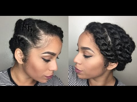 Easy Protective Style For Natural Hair Flat Twist Youtube