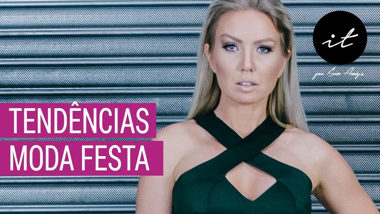 c3a7f63fc Moda Verão Inverno 2019 - Tendências Moda Verão Inverno 2019 - Moda Festa - Vestidos  de Festa