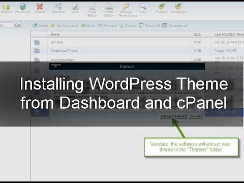 How to install a WordPress Theme: Dashboard and cPanel Uploading with Ftp