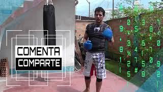 Cómo golpear el saco de boxeo - Combinación de 3 golpes basico en costal - Muay thai