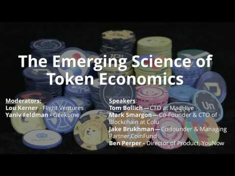Token Economics Conference Call Replay - From November 6th, 2017
