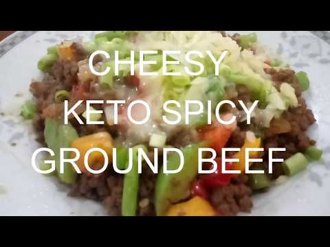KETO RECIPE - LOW CARB SPICY GROUND BEEF