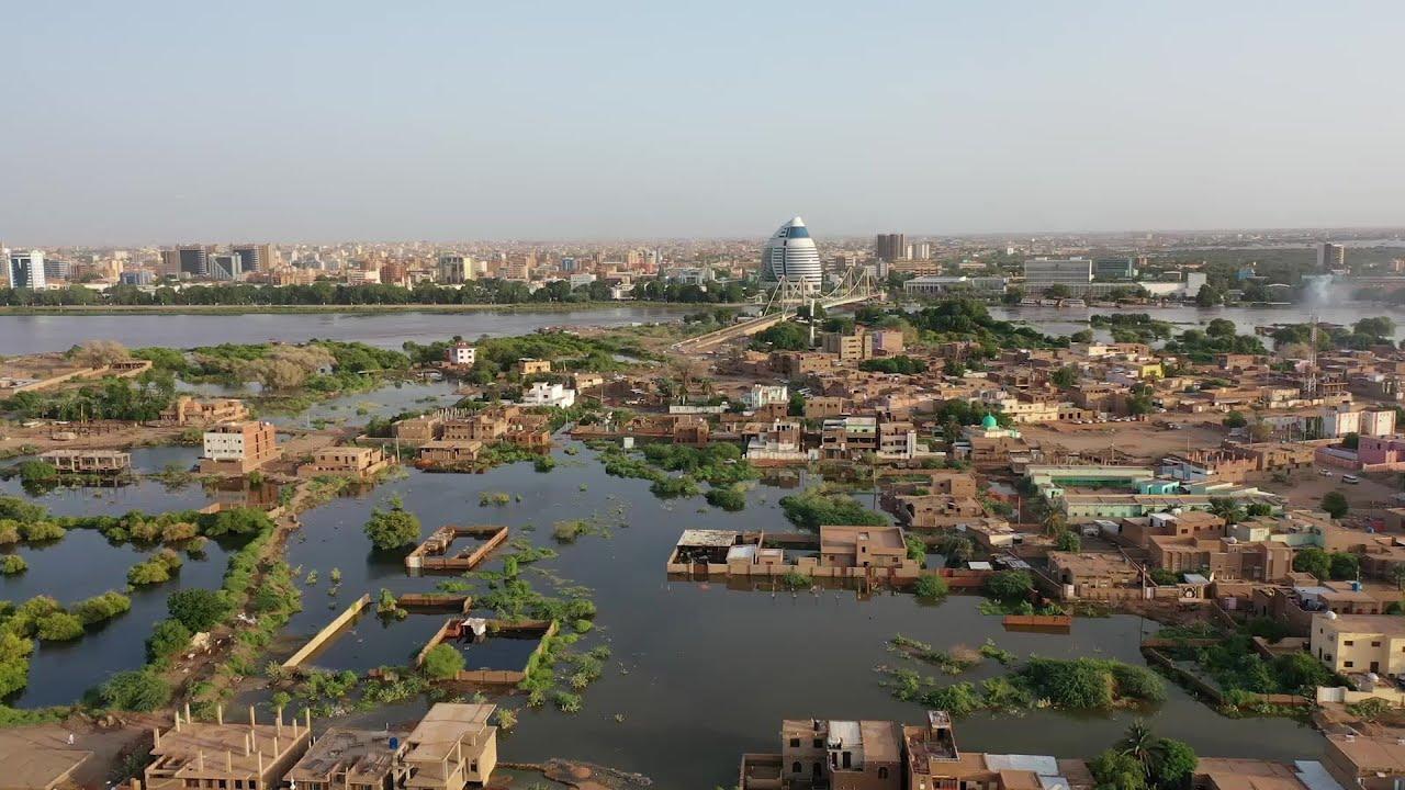 جزيرة توتي فيضان النيل في السودان