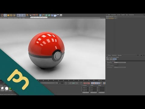 Cinema 4D Tutorial     Modelling     Pokeball [Deutsch]