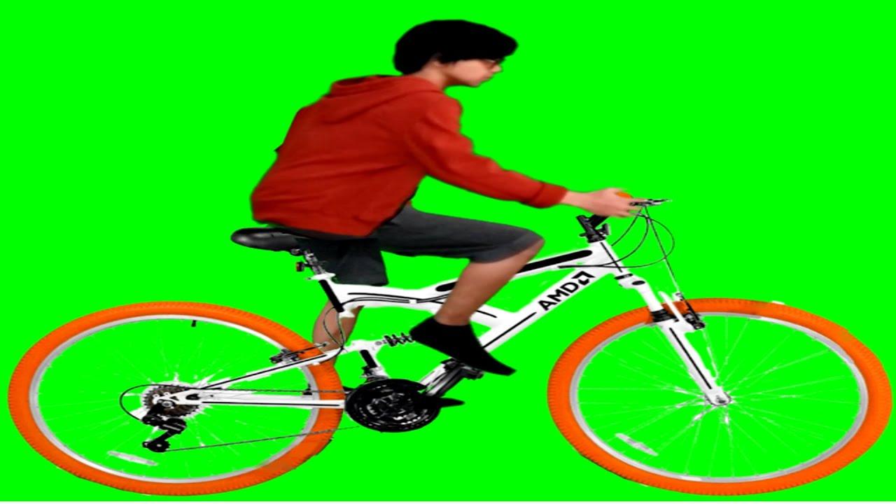 Me Riding The Amd Bike Green Screen Youtube