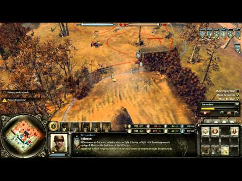 Let's Play Company Of Heroes 2 - Aggressive American Paratrooper Tactics Replay  