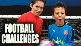 Epic Football Challenges: Crossbar Challenge, Blindfold penalties, & football World Record!