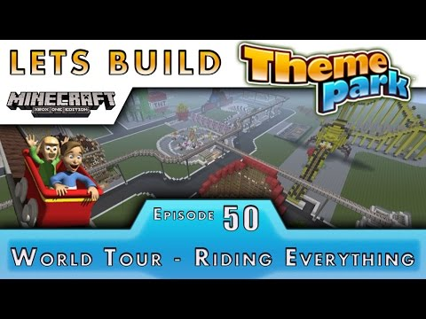 Minecraft :: Lets Build A Theme Park :: World Tour Every Ride! :: E50