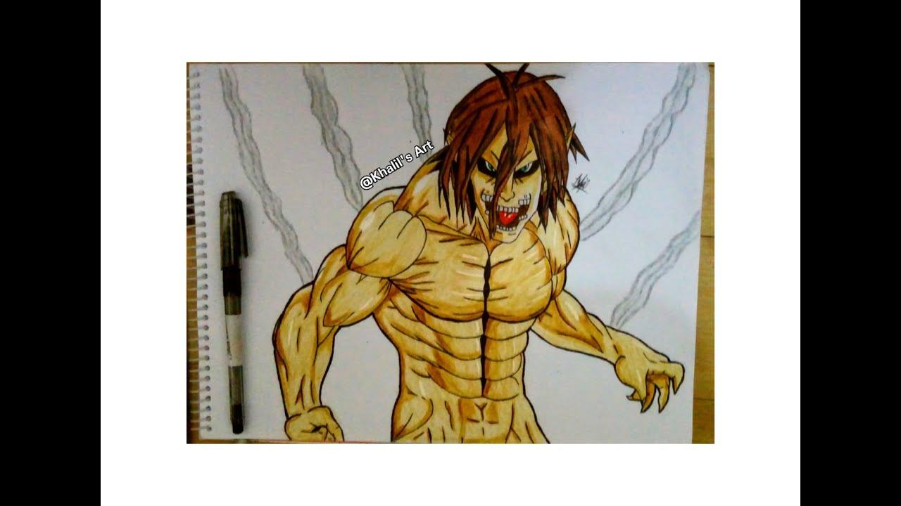 Drawing Eren Jaeger In Titan Form Attack On Titan