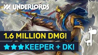1.6 MILLION DAMAGE! Facing ★★★ Keeper & ★★★ Dragon Knight! | Dota Underlords