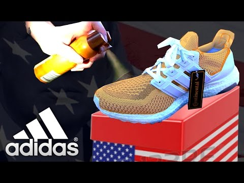 65c17c3bb3a THE ADIDAS ULTRA BOOST DONALD TRUMP SPRAY TAN - YouTube