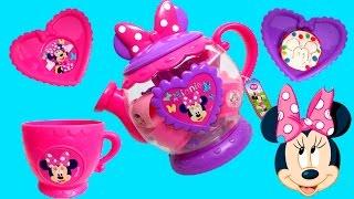 Minnie Mouse Bowtique Tea Playset Disney Junior Mickey Mouse Toys Juego de Té Plastilina