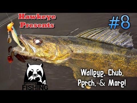 Russian Fishing 4 - #8 - ENGLISH - Walleye, Chub, Perch, & More!