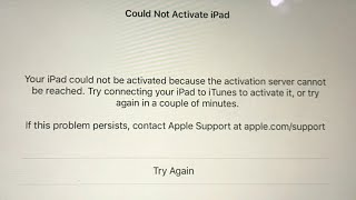 Could Not Activate iPad Pro/Mini/Air - Fixed