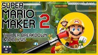 Mario Maker 2 Trailer Deep Analysis & Breakdown   So much more than slopes!