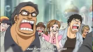 Luffy se vuelve loco por la muerte de Ace