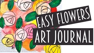 Try This Easy Flower Painting Technique In Your Art Journal