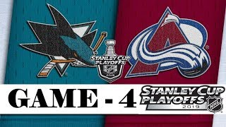 San Jose Sharks Vs Colorado Avalanche  Second Round  Game 4  Stanley Cup 2019  Обзор матча