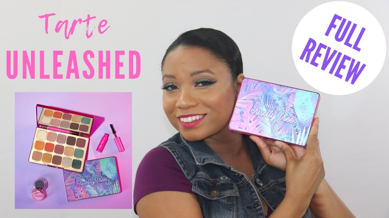 NEW TARTE UNLEASHED EYESHADOW PALETTE REVIEW + SWATCHES - YouTube