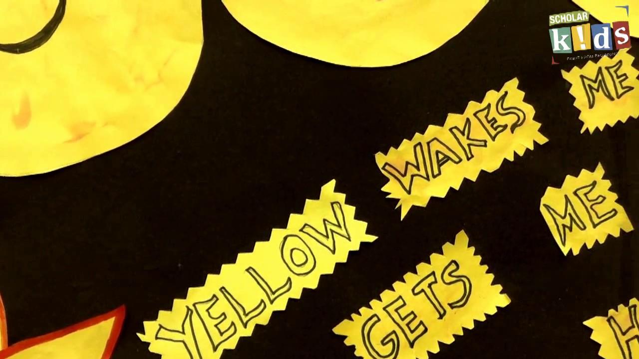 yellow day celebration scholar kids school youtube
