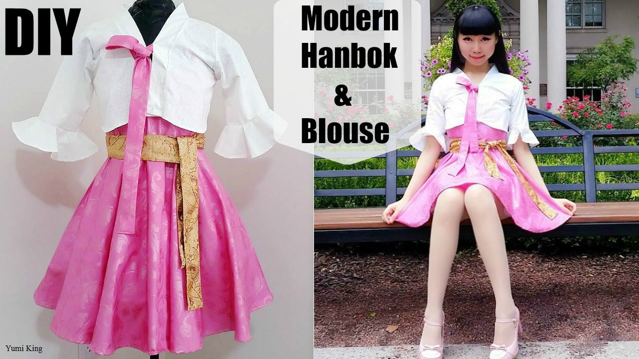 Diy Easy Modern Hanbok Bell Shaped Blouse From Scratch With Pattern Korean Fashion