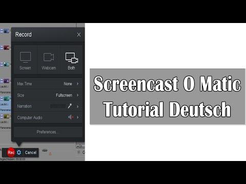 Screencast o matic Tutorial Deutsch