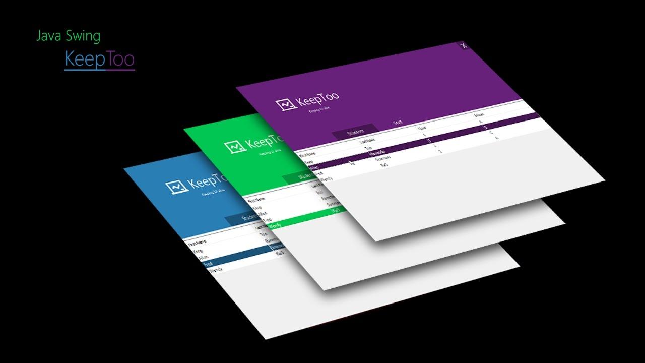 Java programming netbeans metro ui design material ui for Data table material design