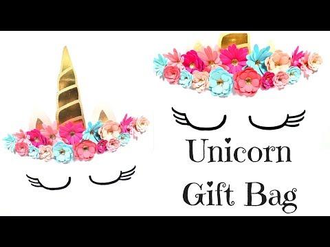 Unicorn Gift Bag Video Tutorial