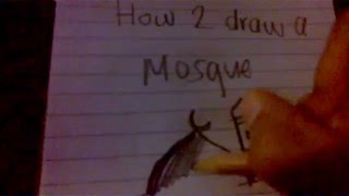 how to draw a masjid for begginers