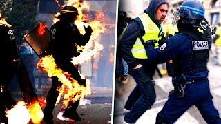 GILET JAUNE: MOMENTS HORRIBLE EN DIRECT SAMEDI (Paris 8 décembre blocage)