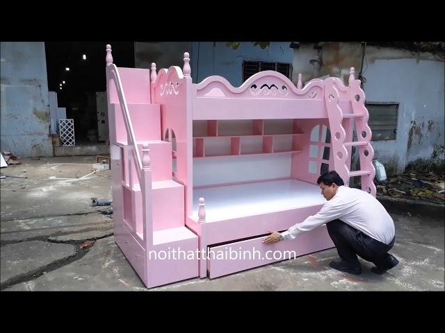 Thiết kế giường tầng cho trẻ em - giao hàng tận nơi.