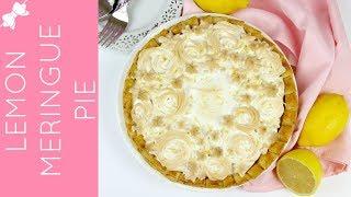 How To Make THE BEST Lemon Meringue Pie with Ruffled Pie Crust // Lindsay Ann Bakes