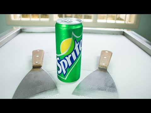 ICE CREAM ROLLS | How to make Sprite Ice Cream Rolls Experiment