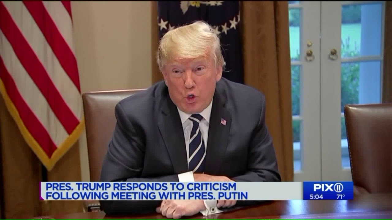 Trump responds to criticism following meeting with Putin