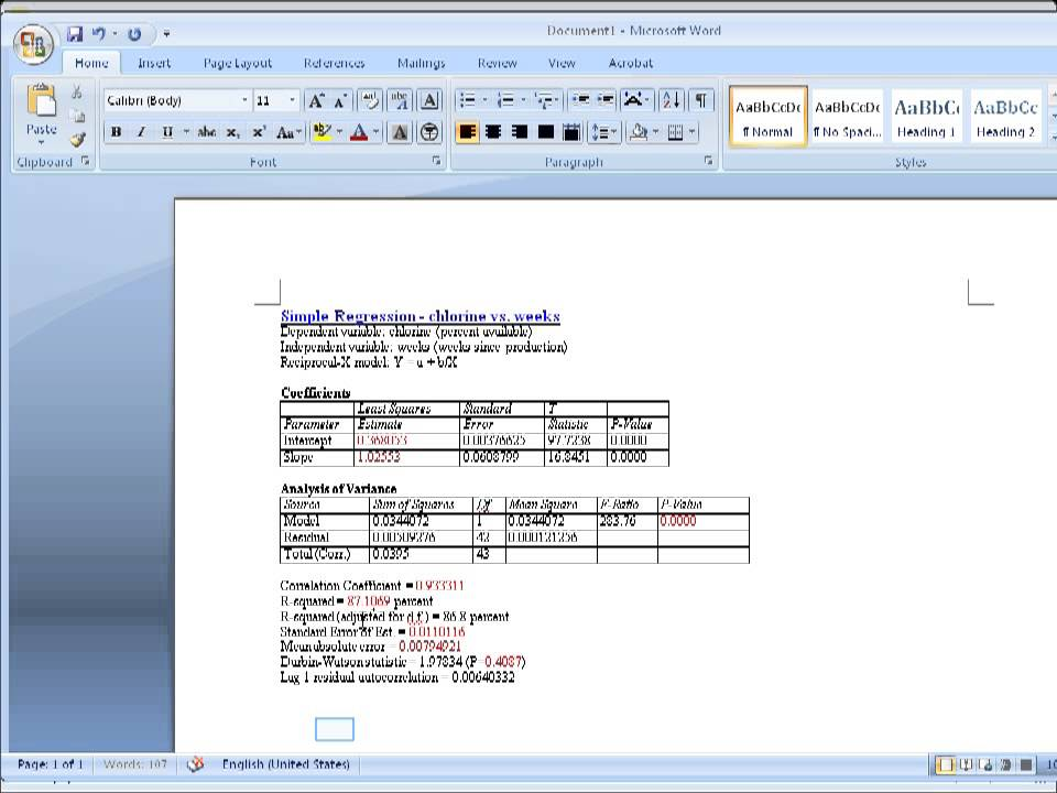 Statgraphics Copy Output