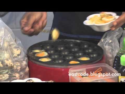hot plate quail egg Thai street food